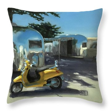 Pismo Vintage Rally Throw Pillow
