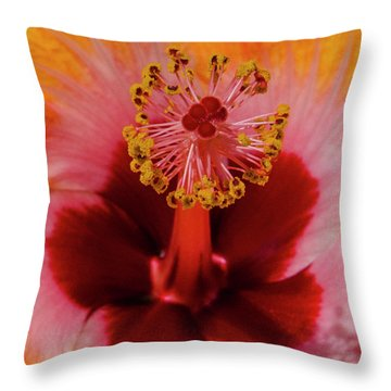 Pistol Packin' Flower Throw Pillow