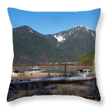 Pitt Lake Winterimpression Throw Pillow