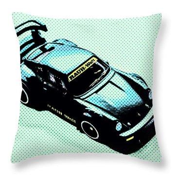 Pixel Porsche Throw Pillow