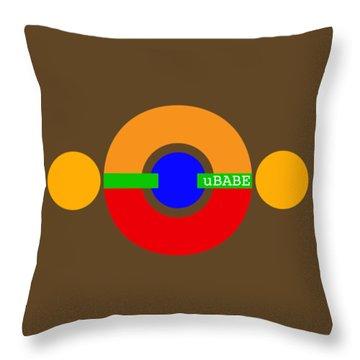 Planet Babe Throw Pillow