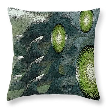 Planets In Motion Throw Pillow