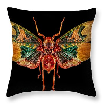 Planthopper Lanternfly Throw Pillow