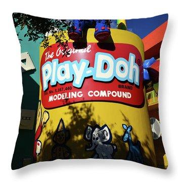 Play Doh At Pop Century Throw Pillow