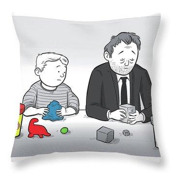 Play Doh Work Doh Throw Pillow