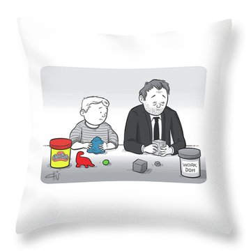 Play Doh Work Doh Throw Pillow