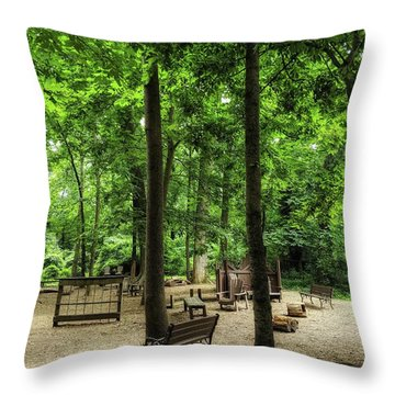 Play In The Shade Throw Pillow