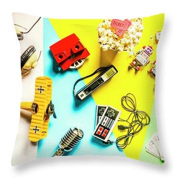 Play On Pop Art Throw Pillow