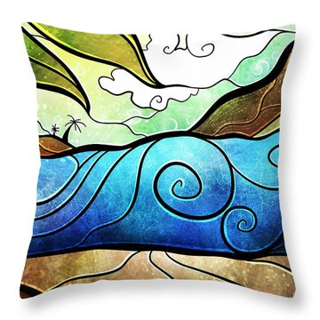 Playa Paraiso Throw Pillow