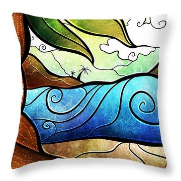 Playa Paraiso Throw Pillow