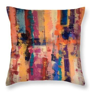 Playful Colors Iv Throw Pillow