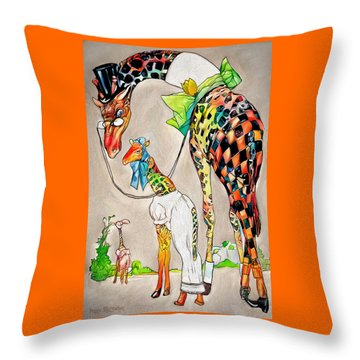 Throw Pillow featuring the digital art Playing Dress Up by Pennie McCracken