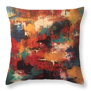 Playing With Color Throw Pillow
