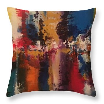 Playing With Color II Throw Pillow