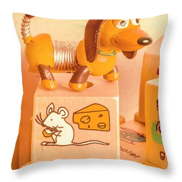 Playtime Pets Throw Pillow