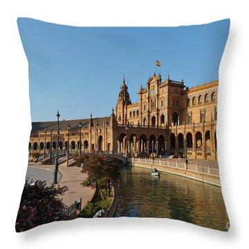 Plaza De Espana Bridge View Throw Pillow