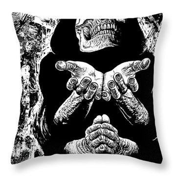 Pleading With The End Throw Pillow