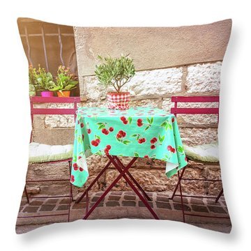 Please Have A Seat Throw Pillow