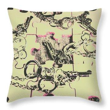 Plot Holes Throw Pillow