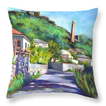 Pocitelji - A Heritage Village In Bosina Throw Pillow