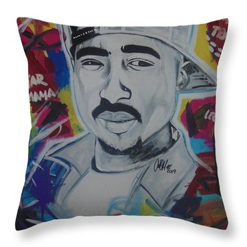 Poetic Pac Throw Pillow