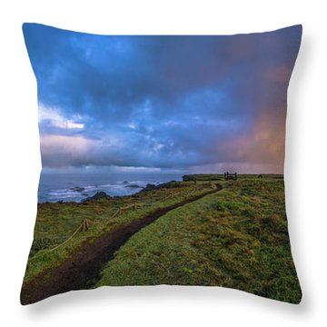 Point Cabrillo Light Station Panorama Throw Pillow