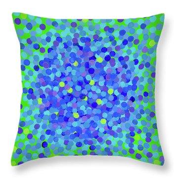 Pointillism 2.0 Hydrangea Throw Pillow