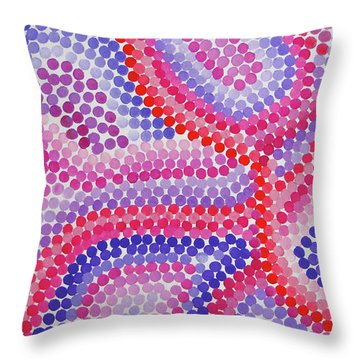 Pointillism - Red To Purple Throw Pillow