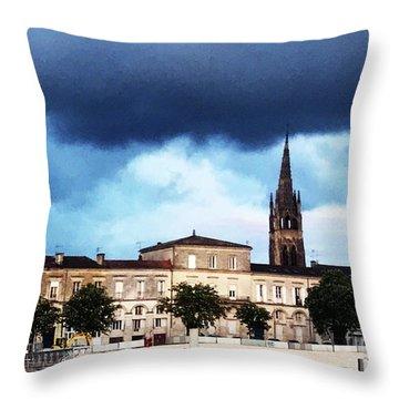 Poking The Storm Throw Pillow