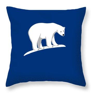 Polar Bear Pillow Throw Pillow