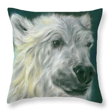 Polar Bear Portrait Throw Pillow