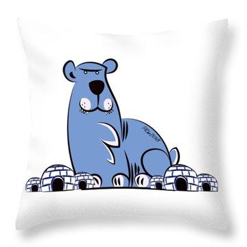 Polar King Throw Pillow