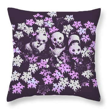 Polar Pop Art Throw Pillow