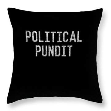 Throw Pillow featuring the digital art Political Pundit Vintage by Flippin Sweet Gear