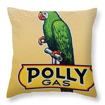 Polly Gas Throw Pillow