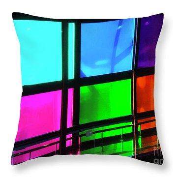 Polychrome Passageway Throw Pillow