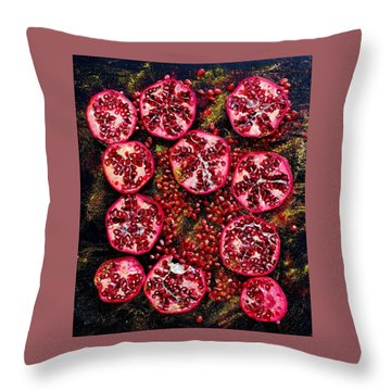 Pomegranate New Year Throw Pillow