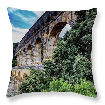Pont Du Gard Throw Pillow