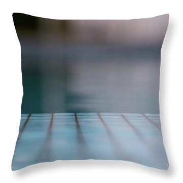Pool And Stripes Throw Pillow