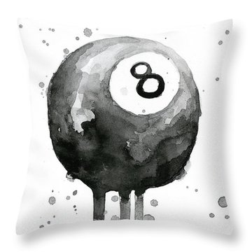 Pool Ball 8-ball Billiards  Throw Pillow