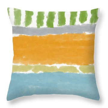 Poolside 1- Art By Linda Woods Throw Pillow
