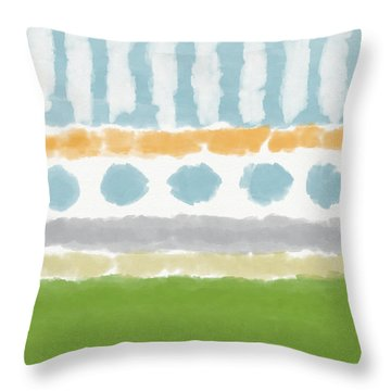 Poolside 3- Art By Linda Woods Throw Pillow