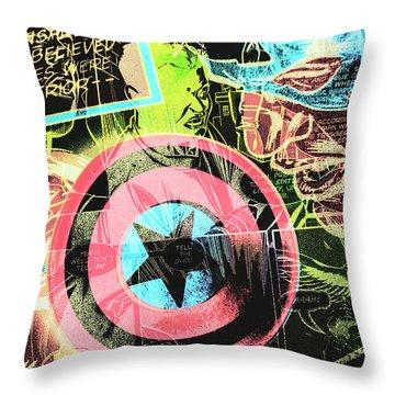 Pop Art Comic Book Throw Pillow