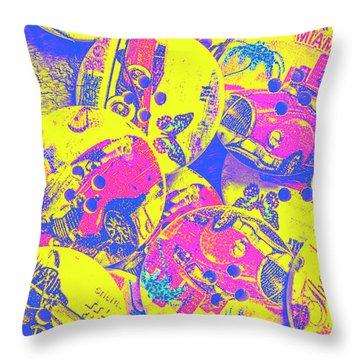 Pop Art Garage  Throw Pillow
