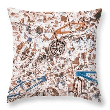 Pop Art Mountain Ride Throw Pillow