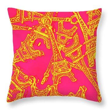 Pop Art Paris Throw Pillow