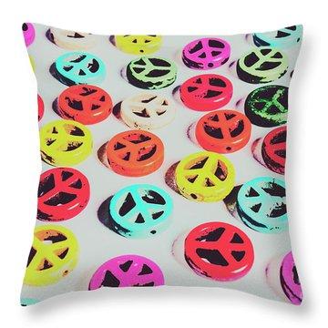 Pop Art Sixties  Throw Pillow