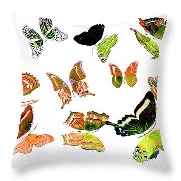 Pop Art Tropics Throw Pillow