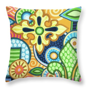 Pop Botanical 1 Throw Pillow