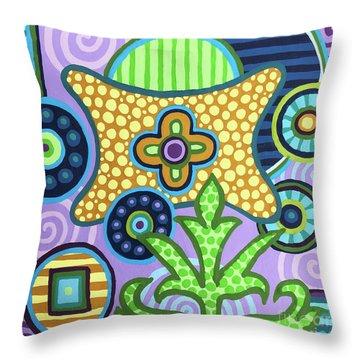 Pop Botanical 2 Throw Pillow